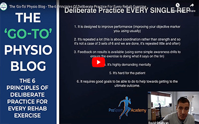 The 6 Principles of Deliberate Practice for Every Rehab Exercise