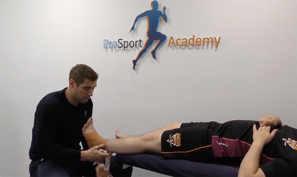 Full boot sports physio ankle strap